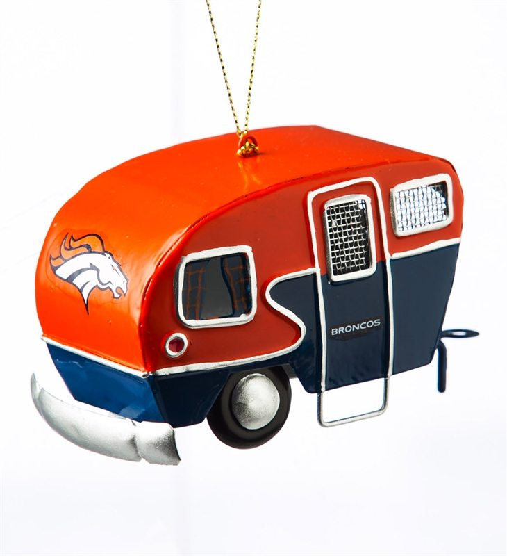 denver broncos camper ornament