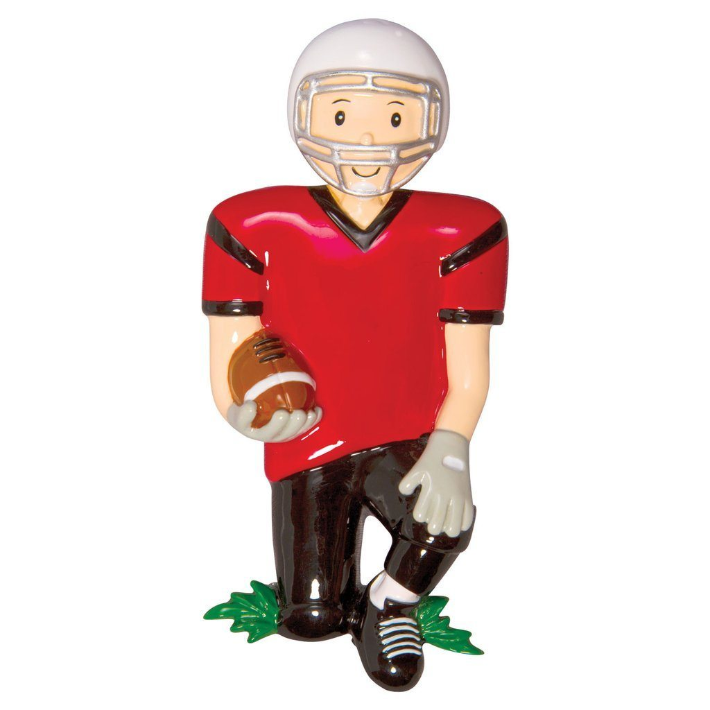 Football player ornament - Football Player In Red Jersey Ornament