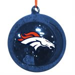 omi439 denver broncos mercury glass ball ornament