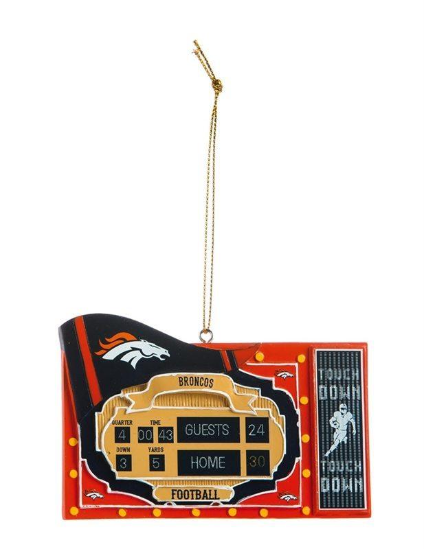 omi751 denver broncos stadium scoreboard ornament
