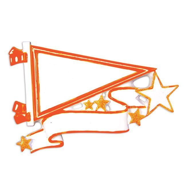 orange pennant ornament