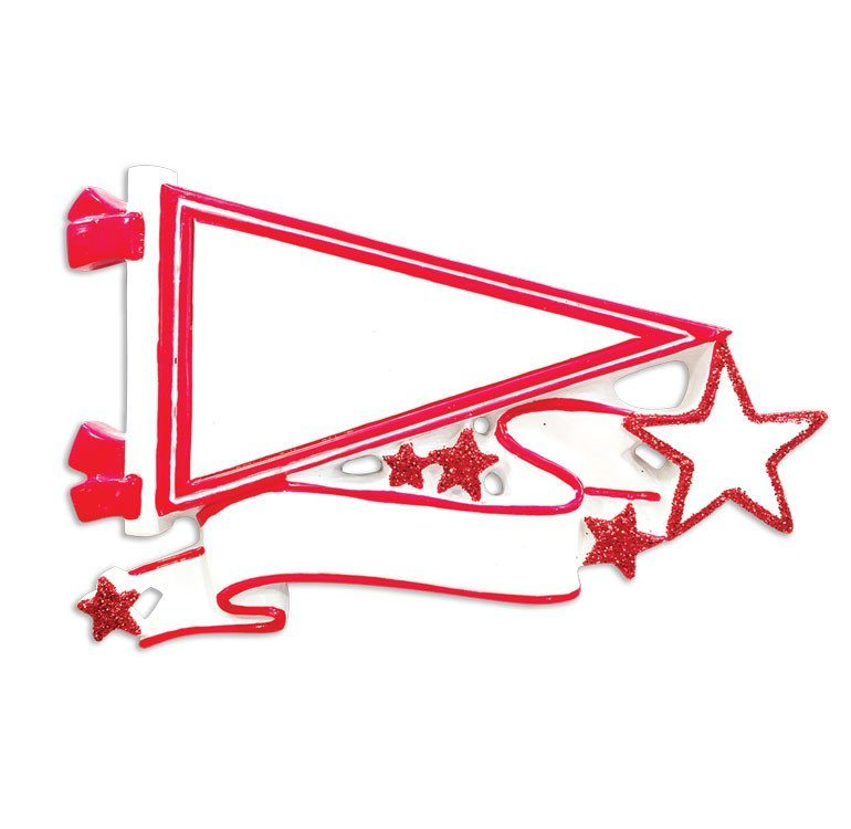 red pennant ornament