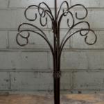 12 arm dark brown metal ornament stand