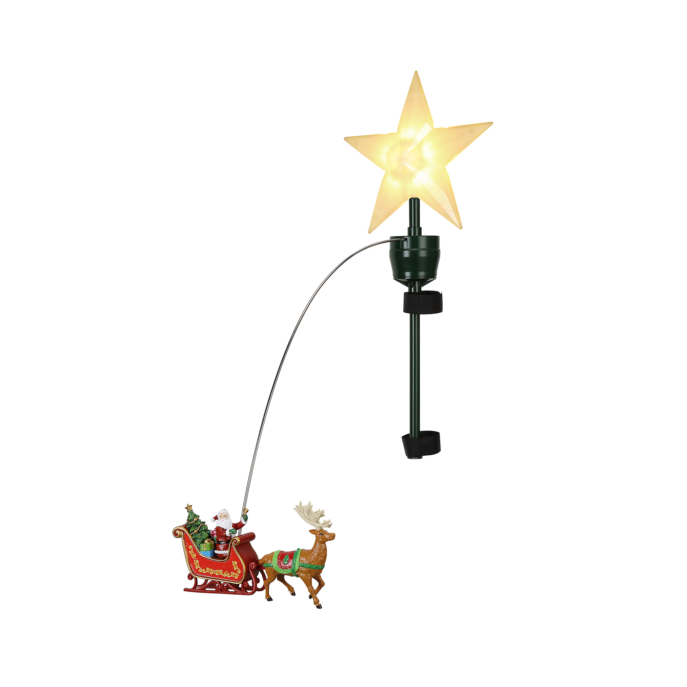 Santa's Sleigh Animated Tree Topper – Christmas Store