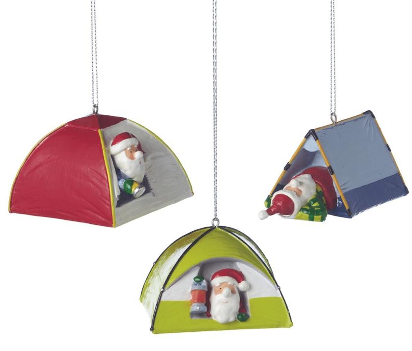 Santa Camping Tent Ornaments - Christmas Store