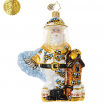 christopher radko bee calm santa ornament