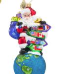 christopher radko santa's big adventure ornament