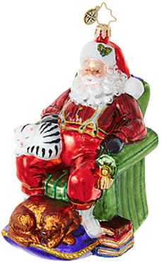 Christopher Radko Santa Snoozin Ornament