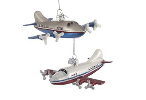 Christmas Ornaments ... - Noble Gems Glass Airplane Ornaments - Christmas Store