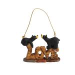 obf002 bear foot bears love ornament