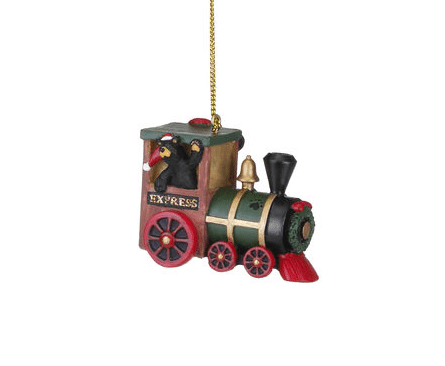 bearfoot bear express train ornament christmas store
