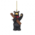 obf011 bearfoot bear see you on the slopes black bear ski ornament