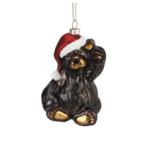odm021 glass sant bear ornament