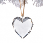 odm027 glass faceted heart ornament