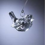 odm298 faux crystal bird ornament