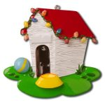 ogg544 dog house ornament
