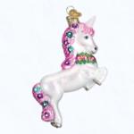 ow12472 old world christmas prancing unicorn ornament