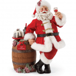 s2010 aged to perfection santa with wine figurine