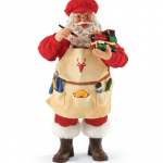 s2033 christmas conductor santa figurine