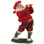 s2034 merry mulligan golfer santa figurine