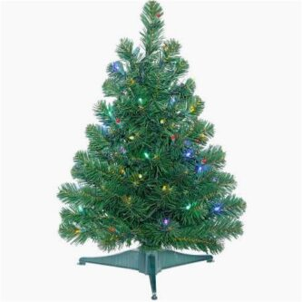2 foot multi lit deluxe oregon fir tree - 2 Foot Christmas Tree
