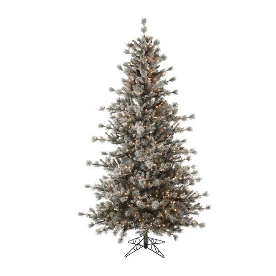 Alaskan Frosted Pre-Lit Artificial Christmas Tree - Christmas Store