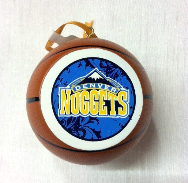 check out ef37b 82fb5 Denver Nuggets Basketball Ornament