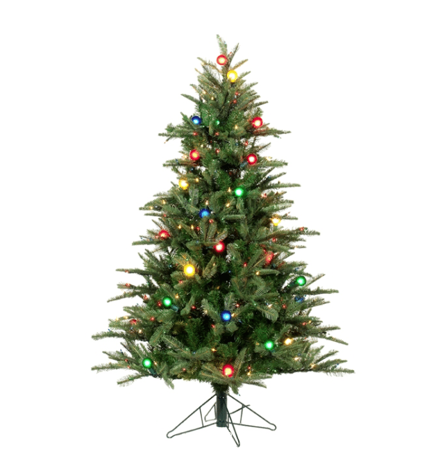 Pictures Of Christmas Trees.On Sale Pine Pre Lit G40 Artificial Christmas Tree