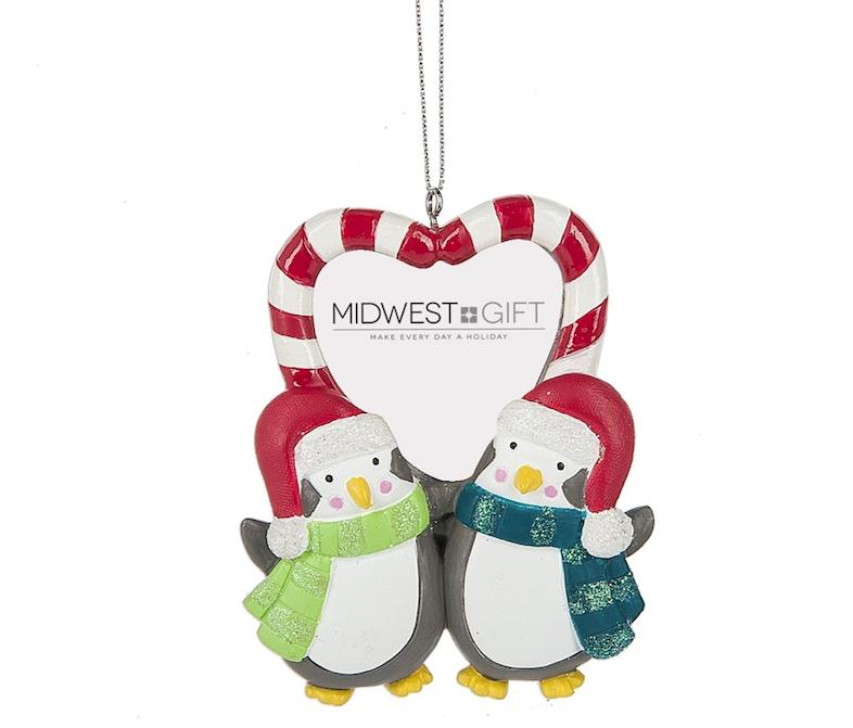 Penguin Couple Frame Ornament - Christmas Store