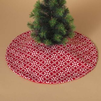 20 inch mini knitted snowflake tree skirt - Mini Pink Christmas Tree
