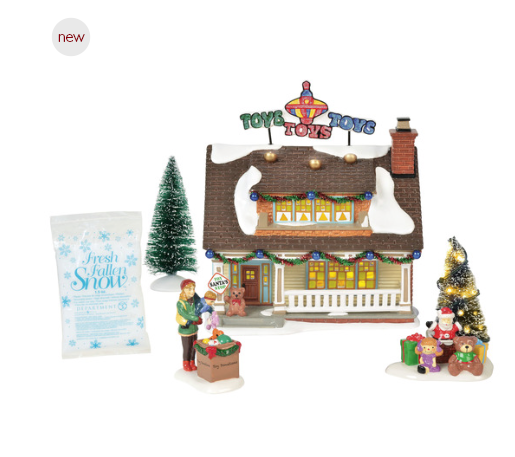 Department 56 Christmas Tree.Department 56 Snow Village The Toy House Box Set Gift Set