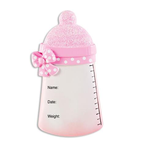 girl baby s first christmas bottle ornament christmas store