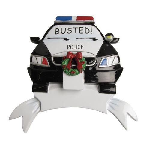 Police Christmas Ornaments.Police Car Ornament