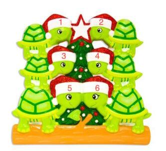 d58b8d24c4e Family of 6 Christmas Turtle Ornament