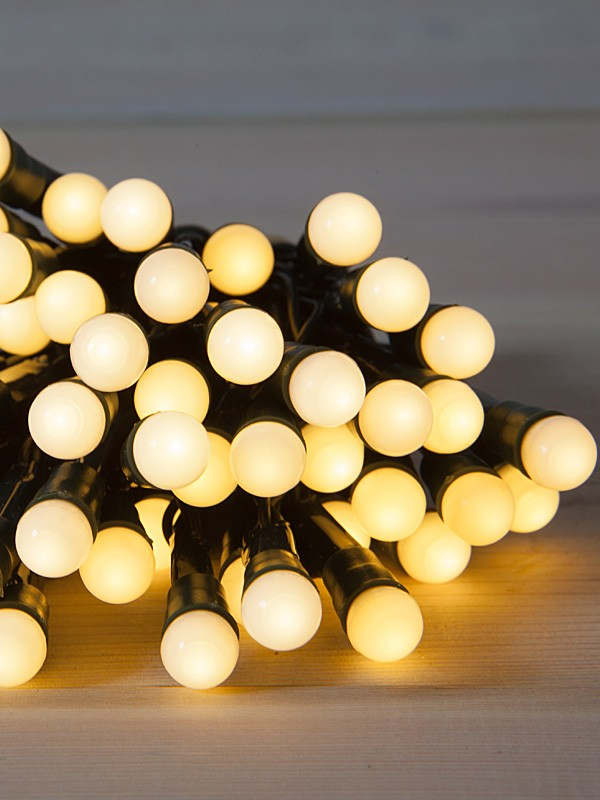 Set of 180 Warm White LED Twinkle Cherry Lights - Christmas Store