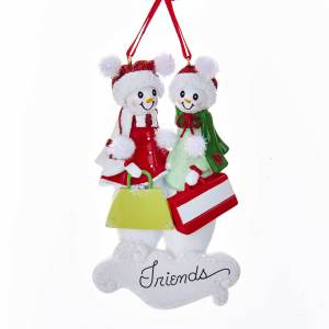 snow friends of 2 ornament - Best Friend Christmas Ornaments
