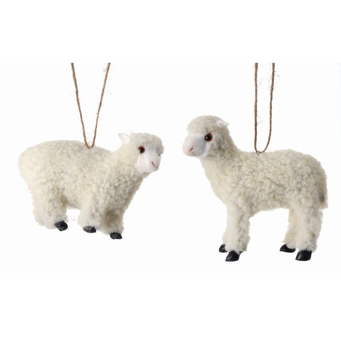 Animals, Christmas Ornaments, Springtime - Faux Fur Lamb Ornaments - Christmas Store