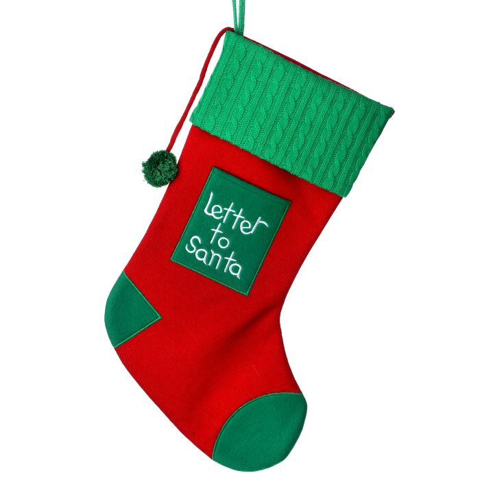 20 inch red and green letter to santa stocking christmas store letter to santa stocking home decor spiritdancerdesigns Gallery