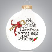 My First Christmas In My New Home Glass Ball Ornament Christmas Store