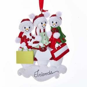 snow friends of 3 ornament - Best Friend Christmas Ornaments