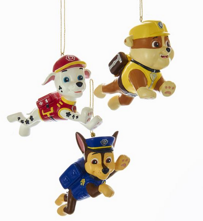 Paw Patrol Marshall Chase Rubble Dog Ornaments