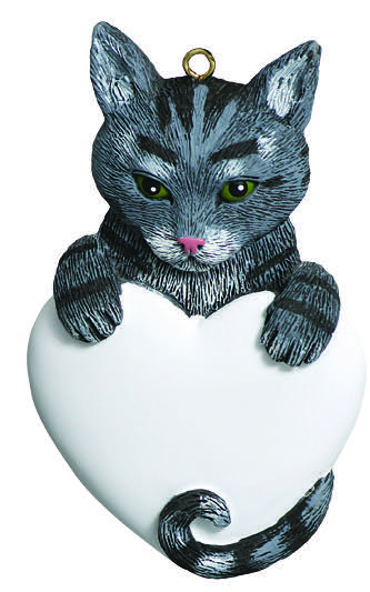 Gray Tabby Cat with Heart Ornament - Christmas Ornaments Archives - Page 56 Of 160 - Christmas Store