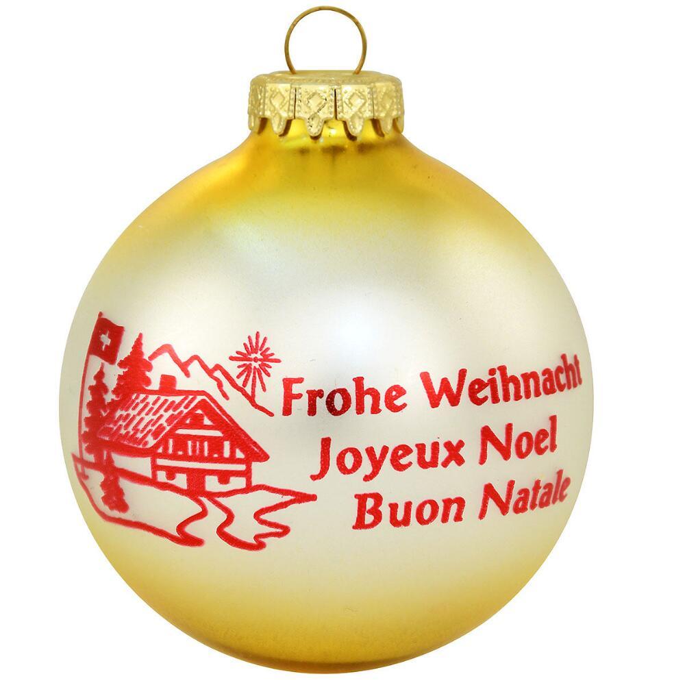 Christmas Customs of Switzerland Glass Ball Ornament - Christmas Store