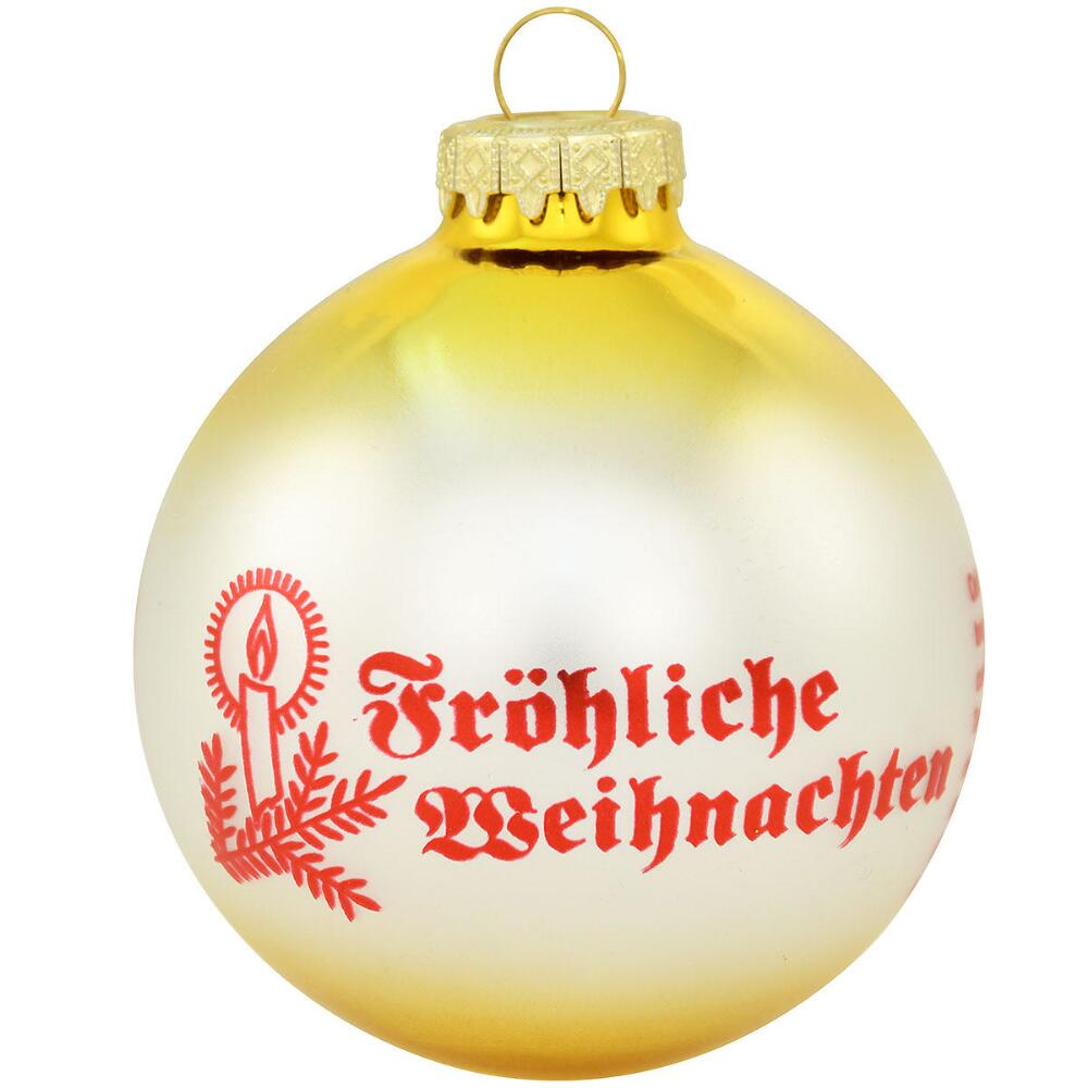 Christmas Customs of Germany Glass Ball Ornament - Christmas Store