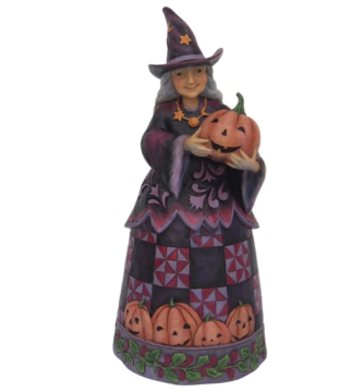 jim shore best witches this halloween witch with pumpkin figurine