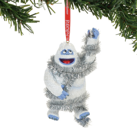 homechristmas ornamentstraditionalrudolph the red nosed reindeer bumble in tinsel ornament cartoon