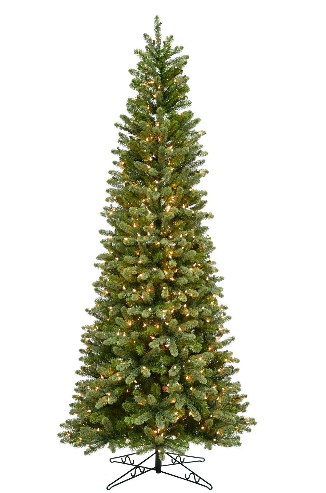 Slim Christmas Tree.On Sale Hazelton Douglas Fir Slim Pre Lit Artificial Christmas Tree