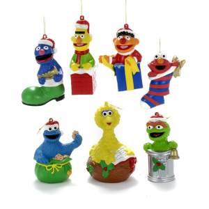 Sesame Street Festive Character Ornaments - Christmas Store