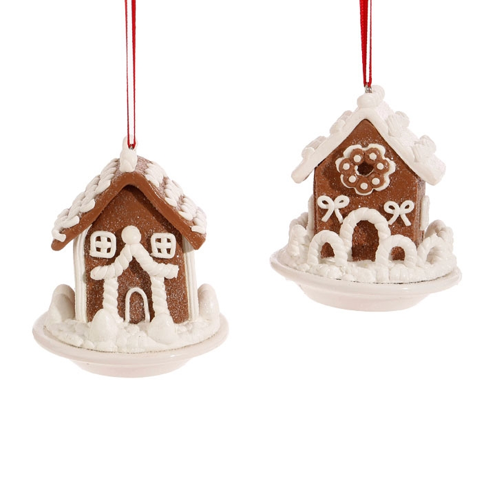 HomeChristmas OrnamentsTraditionalGingerbread House with Frosting Ornaments.  🔍. Cartoon ... - Gingerbread House With Frosting Ornaments - Christmas Store