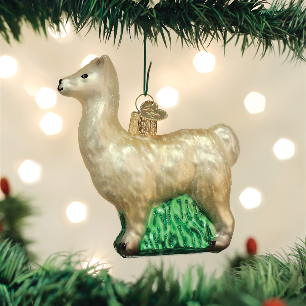 christmas llama ornament animals